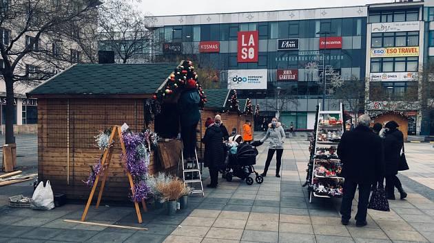 Vánoční trhy v Ostravě budou v okleštěné podobě.