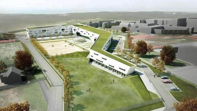 Vizualizace nového výjezdového centra.
