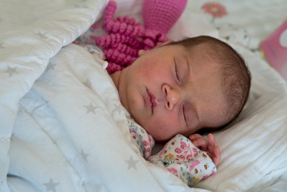 Mariana Kovářová z Ostravy, narozena 8. dubna 2021 v Karviné, míra 52 cm, váha 4220 g. Foto: Marek Běhan