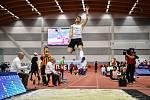 Mezinárodní halový atletický mítink Czech Indoor Gala 2020, 5. února 2020 v Ostravě. Skok daleký, muži Mateusz Jopek z Polska.