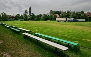 Během Starobělské pouti stály kolotoče i na fotbalovém hřišti.