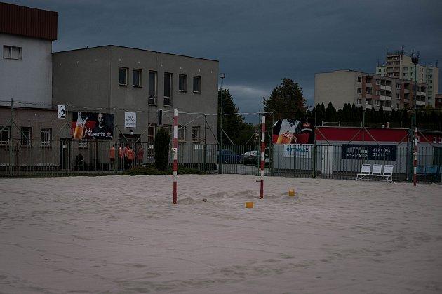 Sportovní areál tělovýchovná jednota Ostrava na Várenské ulici vOstravě, 5.zaří 2017.