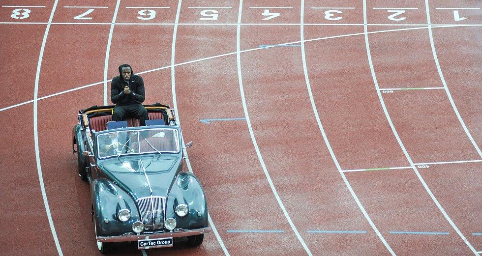 Zlatá tretra Ostrava 2015, na snímku Usain Bolt.