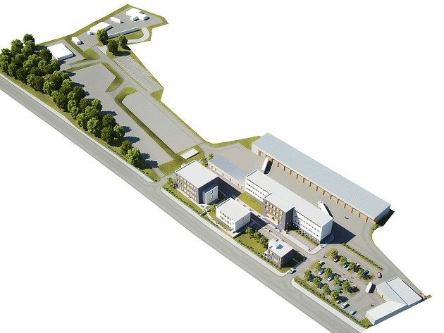 Rekonstruovaný areál kasáren na Hranečníku bude sloužit hasičům, ale i policejním těžkooděncům.