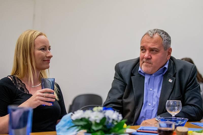 Volební štáb strany SPOLU, 9. října 2021 v Ostravě.