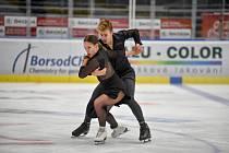 Krasobruslení v Ostravar Aréně, 29. srpna 2020 v Ostravě. Natálie Taschlerová a Filip Taschler.