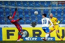 Zápas Fortuna ligy mezi FC Baník Ostrava a FC Viktoria Plzeň (0:2). 31. února 2021 v Ostravě. Odveta se hraje v neděli 23. května 2021 na západě Čech od 17 hodin.