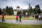Komentovaný výšlap na haldu Ema, 11.3.2019 v Ostravě. Procházka vedla kolem Slezskoostravského hradu.
