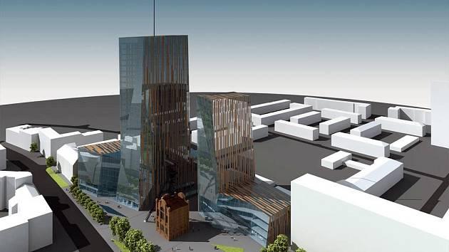 Vizualizace komplexu Jidřich Plaza v Ostravě