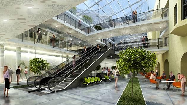 Nové atrium.
