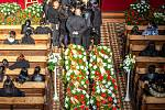 Romský pohřeb Josefa Facuny, 21. října v Ostravě.