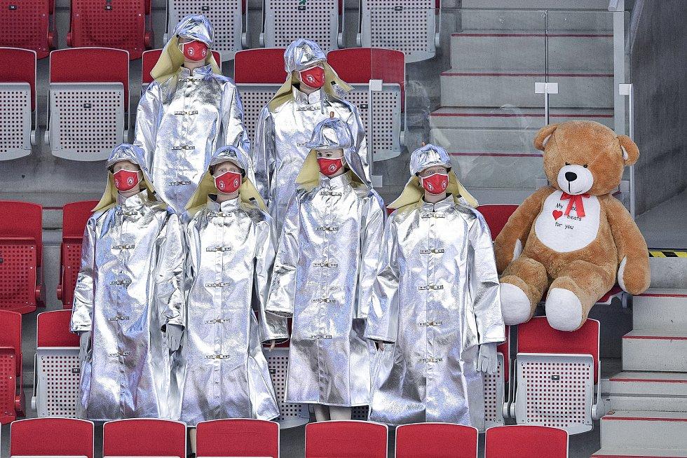 Utkání 42. kola hokejové extraligy: HC Oceláři Třinec - HC Vítkovice Ridera, 2. února 2021 v Třinci.