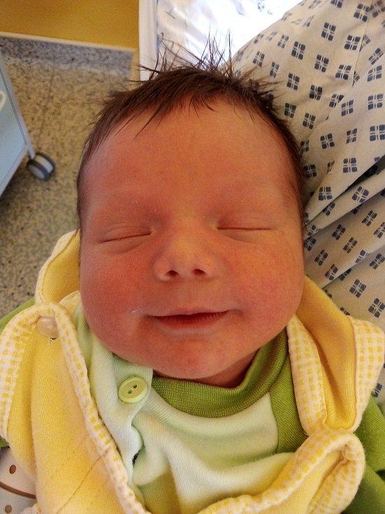 Alfréd Kaňok, Krnov, narozen 13. června 2021, míra 44 cm, váha 2980 g Foto: Pavla Hrabovská