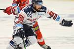 HC Vítkovice Ridera – HC Olomouc 1:2 v prodloužení, přípravný zápas v Ostravě, 10. září 2020. Domácí Rostislav Marosz a Petr Kolouch.
