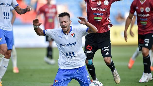 Utkání 2. kola první fotbalové ligy: FC Baník Ostrava - SK Dynamo České Budějovice, 28. srpna 2020 v Ostravě. Milan Jirásek z Ostravy.