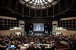 Celostátní fórum České pirátské strany v Dolní Oblasti Vítkovic, 11. ledna 2020 v Ostravě. Na snímku Mikuláš Ferjenčík.