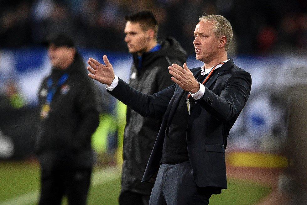 Utkání 20. kola první fotbalové ligy: Baník Ostrava - Sparta Praha, 14. prosince 2019 v Ostravě. Na snímku trenér Sparty Václav Jílek.