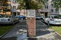 Pamětní deska připomínající tábor Hanke v Ostravě