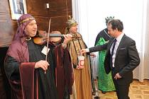 Kašpar, Melichar a Baltazar zamířili i na ostravský magistrát za primátorem Tomášem Macurou.