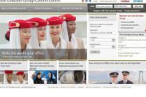 Webové stránky The Emirates Group