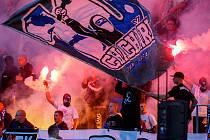 Fanoušci FC Baník Ostrava.