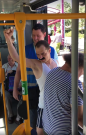 """FREDDIE MERCURY"" v ostravské tramvaji."