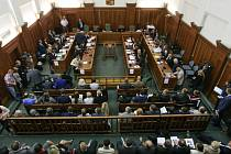 Jednání věřitelů společnosti OKD u Krajského soudu v Ostravě.