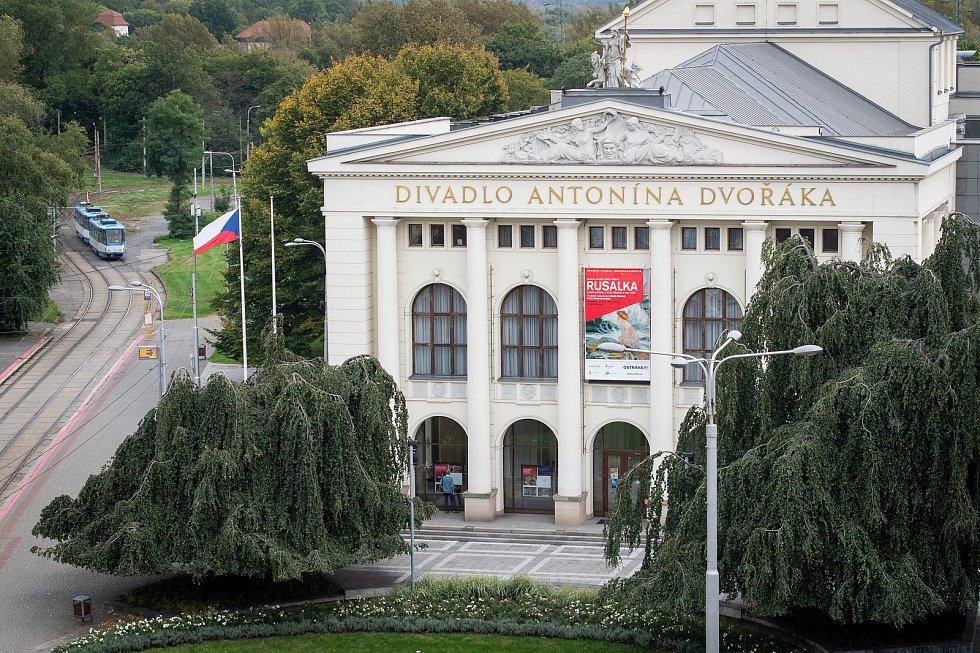 Výhled z budovy bývalého obchodního domu Ostravica-Textilia.