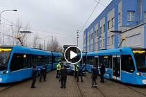 Snímek z videa řidičů MHD Ostrava