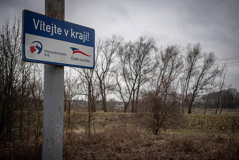 Hraniční přechod s Polskem ve Starém Bohumíně.