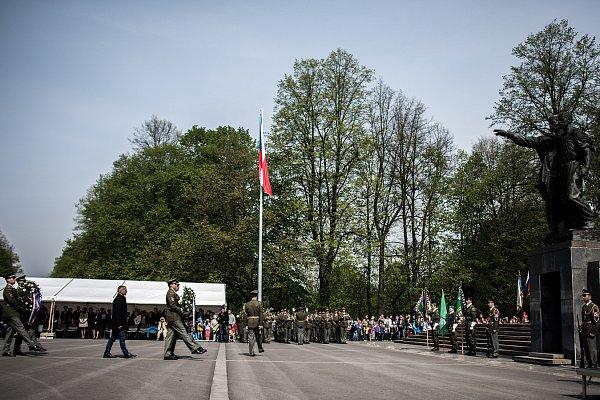 Oslavy 70.výročí osvobození vOstravě.