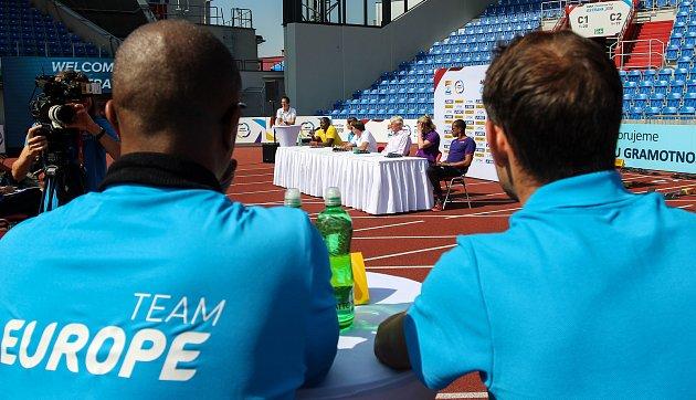 Tisková konference - Kontinentální pohár v atletice 2018 v Ostravě.
