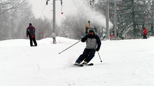 Dobré podmínky na lyžování jsou i na ostravské Skalce