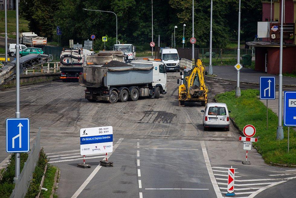 Ulice Místecká v Ostravě. Ilustrační foto, srpen 2019.