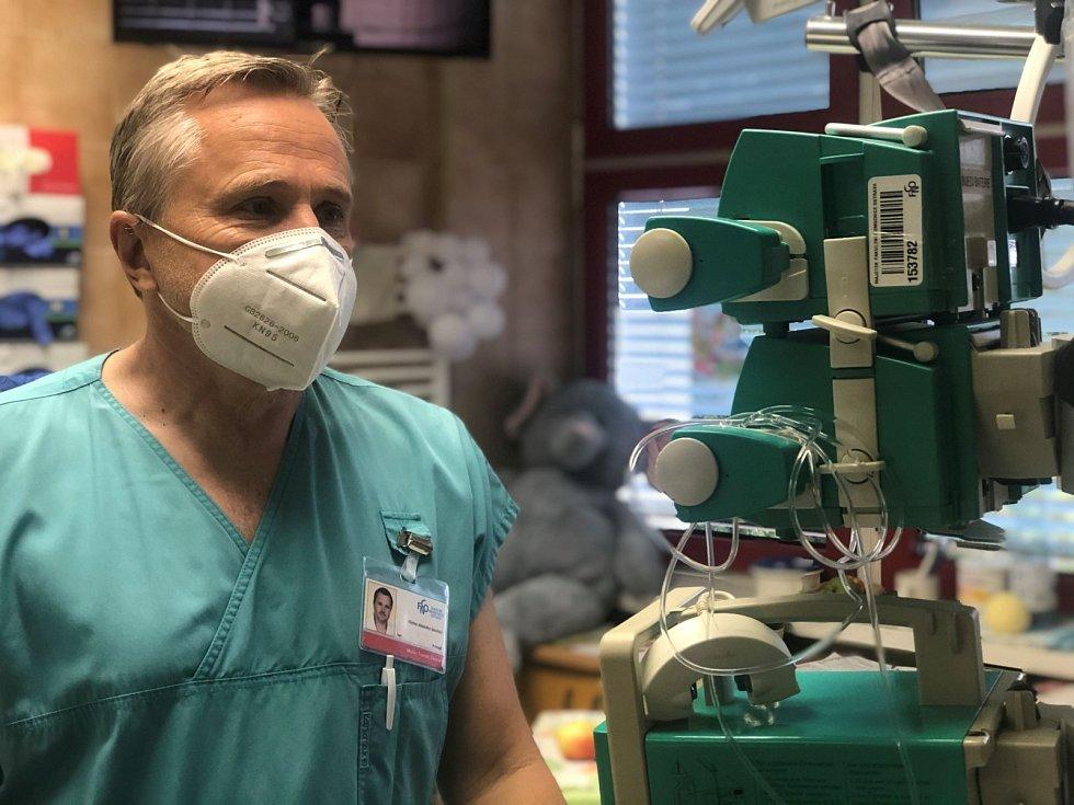 Primář Oddělení pediatrické resuscitační a intenzivní péče MUDr. Tomáš Zaoral, Ph.D.