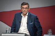 Debata kandidátů na primátora města Ostravy v České televizi, 13. září 2018 v Ostravě. Na snímku Zdeňek Nytra (ODS).