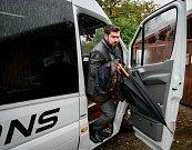 Debata v rámci projektu Deník-bus s volebními lídry za Moravskoslezský kraj. Na snímku Alexander Király, Realisté