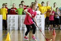 Talent roku 2014 v Ostravě. Podpůrná akce projektu Sportovní den s Talentem, jehož mediálním partnerem je i Deník, měla za cíl rozhýbat malé školáky.