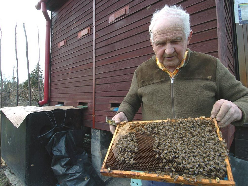 Včelař Ivan Korba z Ostravy