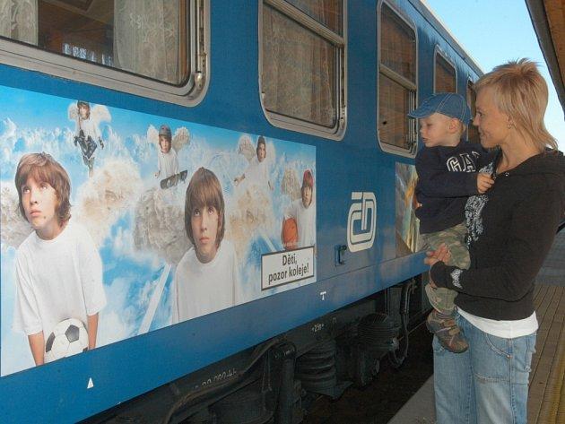 Preventivní vlak. V září ho mohli navštívit na svinovském nádraží ostravští školáci.