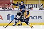 Utkání 41. kola hokejové extraligy: HC Vítkovice Ridera - PSG Berani Zlín, 28. ledna 2020 v Ostravě. Na snímku (zleva) Peter Trška a Pavel Kubiš.