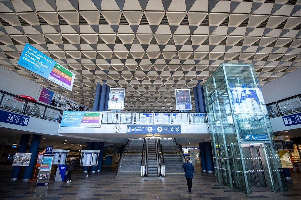 Hlavní nádraží v Ostravě, 17. března 2019.