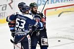 Utkání 15. kola hokejové extraligy: HC Vítkovice Ridera - Mountfield Hradec Králové, 9. listopadu 2020 v Ostravě. (zleva) Vojtěch Polák z Vítkovic a Roman Polák z Vítkovic.