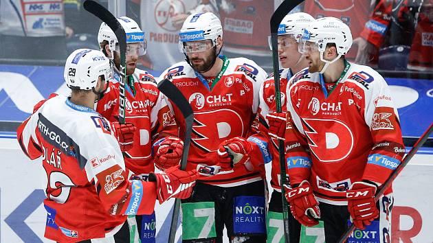 Hokejové utkání HC Dynamo Pardubice - HC Vítkovice Ridera.