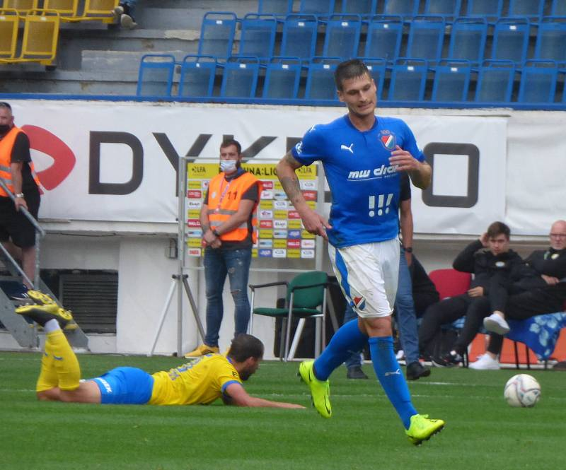 Fotbalisté Baníku Ostrava v Teplicích.