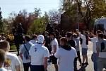 Příjezd fanoušků Opavy do Ostravy