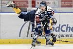 Utkání 41. kola hokejové extraligy: HC Vítkovice Ridera - PSG Berani Zlín, 28. ledna 2020 v Ostravě. Na snímku (zleva) Pavel Kubiš a Alexandre Mallet.