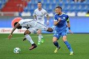 Utkání 28. kolo první fotbalové ligy FC Baník Ostrava - FC Sloban Liberec, 12. května v Ostravě. (vlevo) Diop Dame a Coufal Vladimír.