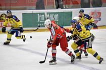 Utkání play off, čtvrtfinále, hokejové Chance ligy - 3. zápas: HC RT Torax Poruba - HC Zubr Přerov 3:2 po samostatných nájezdech, 23. března 2021 v Ostravě.
