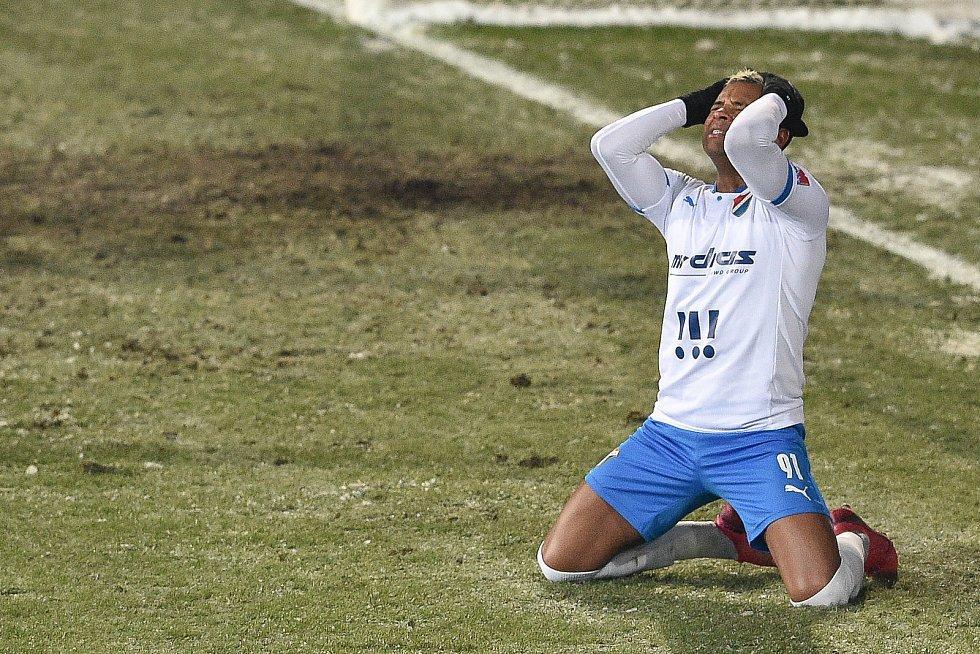 Utkání 15. kola první fotbalové ligy: FC Baník Ostrava - AC Sparta Praha, 17. ledna 2021 v Ostravě. Dyjan Carlos De Azevedo z Ostravy.